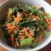小松菜とツナの和え物&サーモンのソテー&豚こま唐揚げ  長田知恵さんの時短レシピ